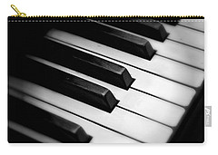 Black And White Carry-all Pouch featuring the photograph 88 Keys To The Heart by Aaron Berg