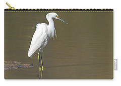 Snowy Egret Carry-all Pouch by Tam Ryan