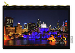 Carry-all Pouch featuring the photograph 911 Tribute At Buckingham Fountain, Chicago by Zawhaus Photography
