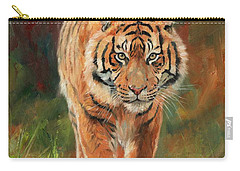 Amur Tiger Carry-all Pouch by David Stribbling