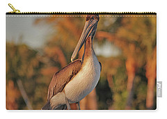 Carry-all Pouch featuring the photograph 9- Brown Pelican by Joseph Keane