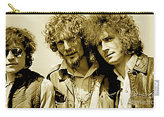 Cream Eric Clapton Jack Bruce Ginger Baker Carry-all Pouch by Marvin Blaine