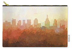 Carry-all Pouch featuring the digital art Philadelphia Pennsylvania Skyline by Marlene Watson