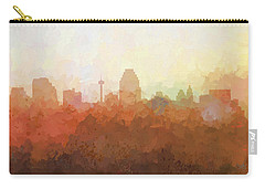 Carry-all Pouch featuring the digital art San Antonio Texas Skyline by Marlene Watson