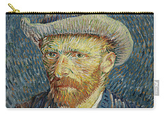 Self-portrait With Grey Felt Hat Carry-all Pouch