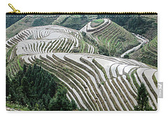 Terrace Fields Scenery In Spring Carry-all Pouch