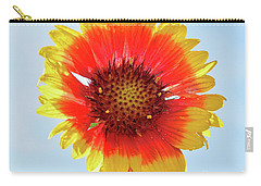Carry-all Pouch featuring the photograph Yellow Flower by Elvira Ladocki