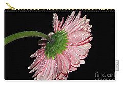 Pink Gerber Carry-all Pouch by Elvira Ladocki