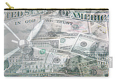 Carry-all Pouch featuring the photograph Time Is Money  by Les Cunliffe