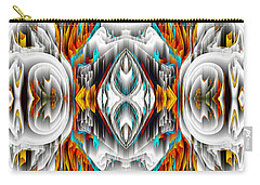 Carry-all Pouch featuring the digital art 992.042212mirror2ornategold-1-a by Kris Haas
