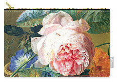 A Basket With Flowers Carry-all Pouch by Jan van Huysum
