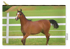 A Beautiful Arabian Filly In The Pasture. Carry-all Pouch