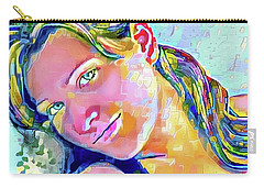 Carry-all Pouch featuring the painting A Beautiful Girl by Jann Paxton