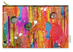 Carry-all Pouch featuring the painting A Beautiful Mess by Desiree Paquette