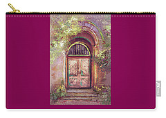 Carry-all Pouch featuring the digital art A Beautiful Mystery by Lois Bryan