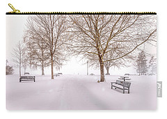 A Beautiful Winter's Morning  Carry-all Pouch by John Poon