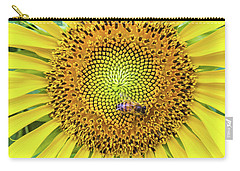 A Bee On A Sunflower Carry-all Pouch
