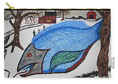 Carry-all Pouch featuring the painting A Big Fish Tale by Jeffrey Koss