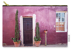 Carry-all Pouch featuring the photograph A Bit Of Brightness Down The Lane by Linda Lees