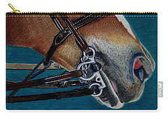 A Bit Of Control - Horse Bridle Painting Carry-all Pouch
