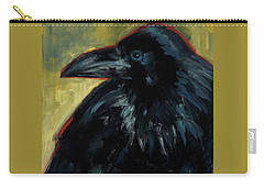 Carry-all Pouch featuring the painting A Black Tie Affair by Billie Colson