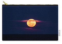 Carry-all Pouch featuring the photograph A Bloody Moon by Steve Taylor