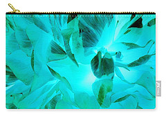 A Bloom In Turquoise Carry-all Pouch