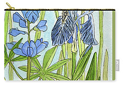 A Blue Garden Carry-all Pouch by Laurie Rohner