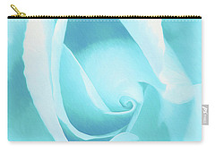A Blue Rose - Romantic Abstract Art Carry-all Pouch