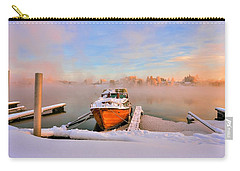 Boat On Frozen Lake Carry-all Pouch