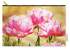 A Bouquet Of Tulips Carry-all Pouch by Trina Ansel