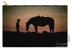 A Boy And His Horse Carry-all Pouch