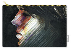 Carry-all Pouch featuring the painting A Boy Named Rainbow by Rene Capone