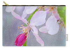 Carry-all Pouch featuring the photograph A Breath Of Spring by Betty LaRue