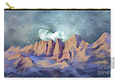 Carry-all Pouch featuring the painting A Breath Of Tranquility by Sgn