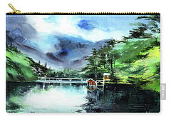 Carry-all Pouch featuring the painting A Bridge Not Too Far by Anil Nene