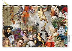 Carry-all Pouch featuring the digital art A Brief History Of Women And Dreams by Nola Lee Kelsey