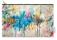 Carry-all Pouch featuring the painting A Broken Love Story Fabio And The Goddess by Tracy Bonin