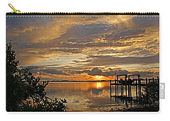 Carry-all Pouch featuring the photograph A Brooding Sunset Sky by HH Photography of Florida