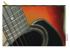 Carry-all Pouch featuring the photograph  Guitar  Acoustic Close Up by Bruce Stanfield