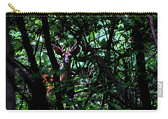 A Buck Peers From The Woods Carry-all Pouch by Bruce Patrick Smith