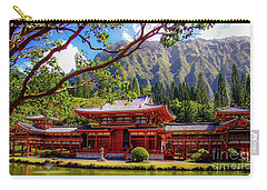 Buddhist Temple - Oahu, Hawaii - Carry-all Pouch