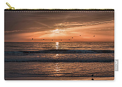 Carry-all Pouch featuring the photograph A Burnished Sunrise by John M Bailey