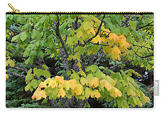 Carry-all Pouch featuring the photograph A Burst Of Yellow Orange by Ellen Barron O'Reilly