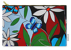 Carry-all Pouch featuring the painting A Butterflies Paradise by Kathleen Sartoris