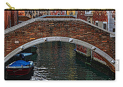 A Canal In Venice Carry-all Pouch by Tom Prendergast