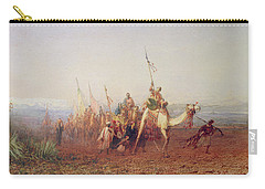 A Caravan On The Way To Cairo Carry-all Pouch by Felix Ziem