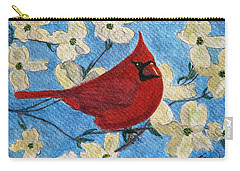 Carry-all Pouch featuring the painting A Cardinal Spring by Angela Davies