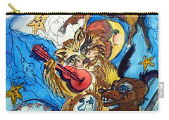 A Cat And A Fiddle Carry-all Pouch by Mindy Newman