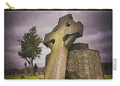 Carry-all Pouch featuring the photograph A Celtic Cross In Glasgow Scotland by Carol Japp
